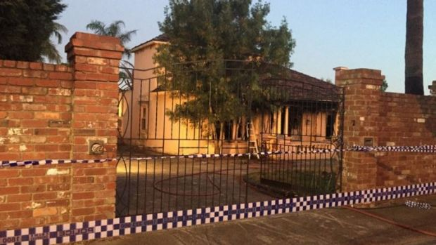 The former home of Des 'Tuppence' Moran was gutted by fire on Wednesday night.