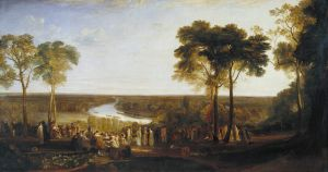 England: Richmond Hill on the Prince Regent's Birthday by J.M.W. Turner.