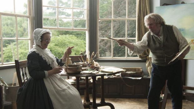J.M.W. Turner (Timothy Spall) and Sophia Booth (Marion Bailey) in Mr Turner.