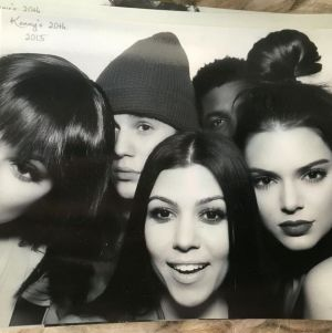 Justin cosied up to Kourtney at her sister Kendall Jenner's 20th birthday party.