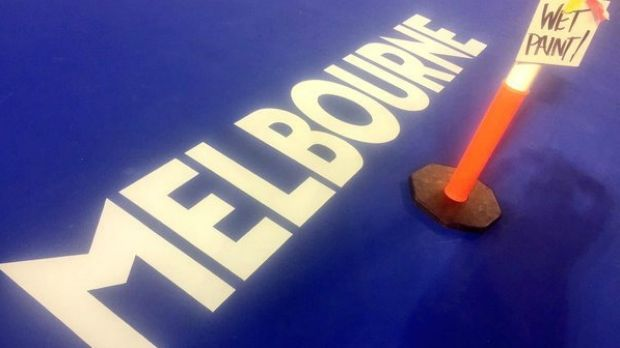 On Wednesday the Australian Open tweeted this picture of the Melbourne logo, sans triangle.