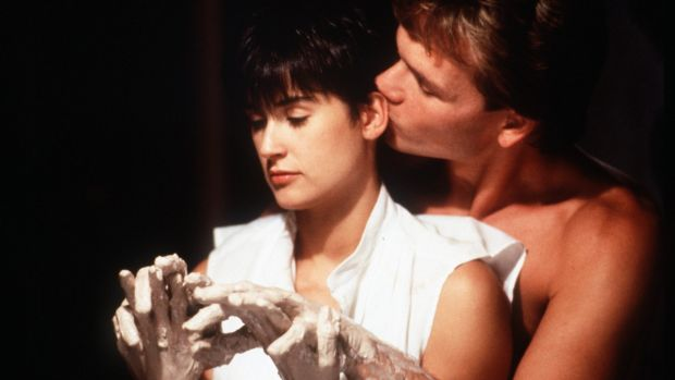 Demi Moore and Patrick Swayze in the hit 1990 film Ghost.