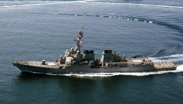 The US Navy guided-missile destroyer USS Lassen which in October sailed within 12 nautical miles of Subi Reef, one of ...