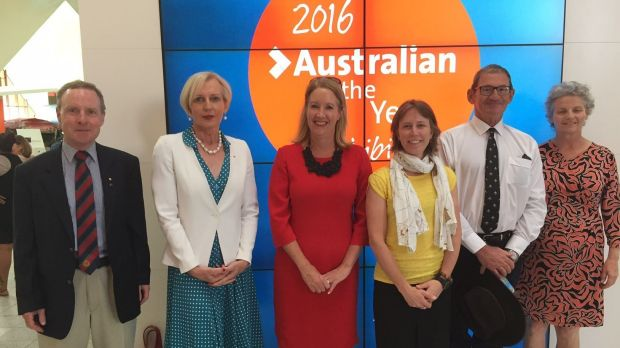 2016 Australian of the Year finalists. Jane Hutchinson pictured fourth from left.