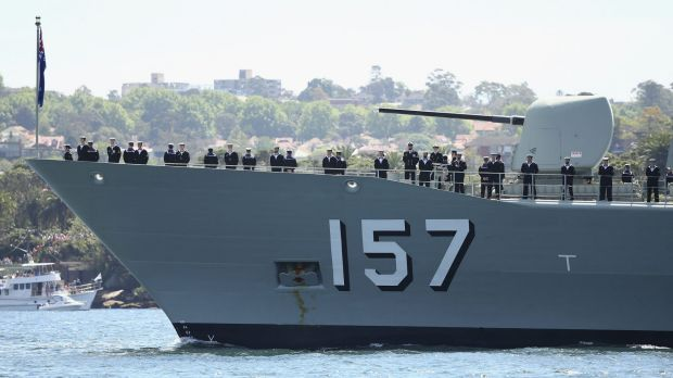 The HMAS Perth has been caught up in a fundraising scandal.