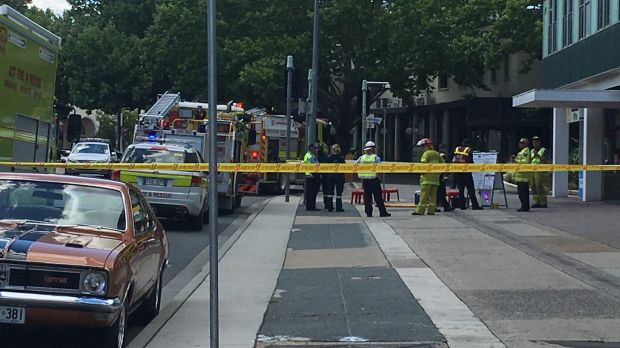 An office building on London Circuit in Civic has been evacuated.