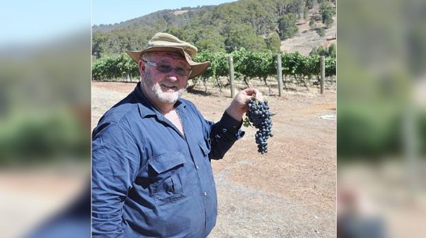 Bernie Worthington of Drakesbrook Winery, pictured in the days before the bushfire wiped out his livelihood.