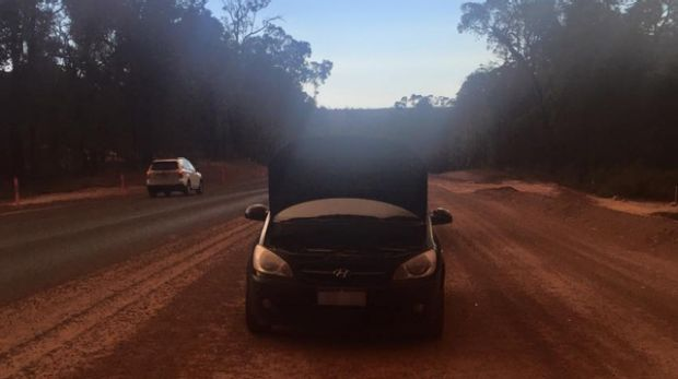 Ms Soia's car conked out while taking the detour to Busselton from Perth.