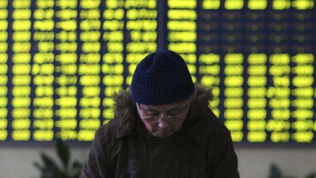 Chinese shares are in retreat.