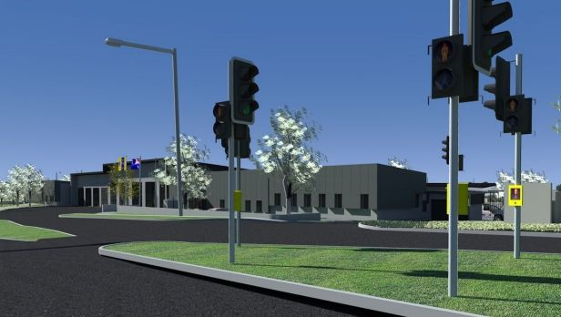 Artist's impression of the $21 million joint fire and ambulance station to be built at Aranda.