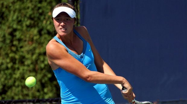 US player Samantha Crawford is not well known on the tour, but plays her first tour-level semi-final on Friday in Brisbane.