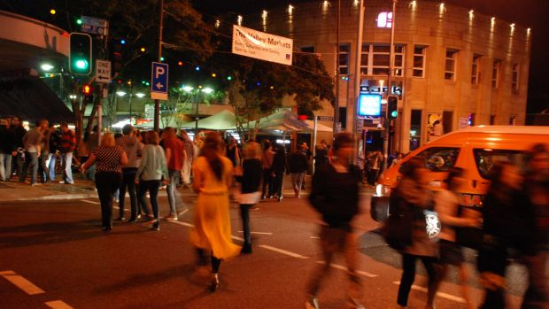 A teenager was hospitalised after a fight at a Fortitude Valley cab rank on Wednesday night.