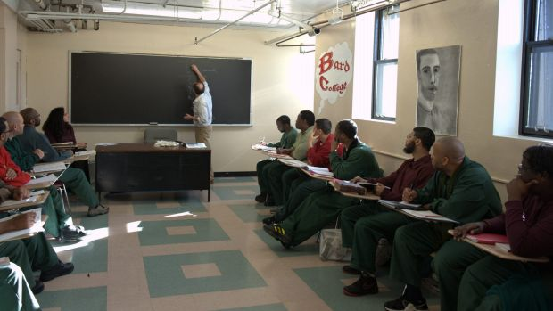 Inside a Bard Prison Initiative class at the Fishkill Correctional Facility., NY.