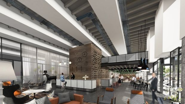 Artists' impression of the new Rydges Fortitude Valley lobby.