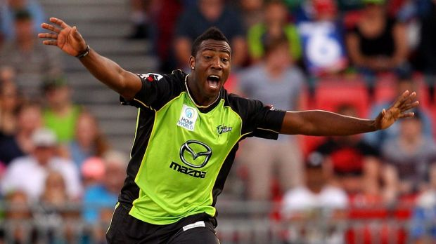 Seeking a winning groove: Thunder star Andre Russell.