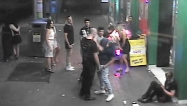 Police released footage of the one-punch attack in Civic in the aftermath of Canberra's New Year's Eve celebrations.