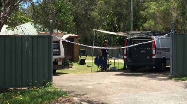 Forensic crews are on scene at a Morayfield address after a toddler was shot.