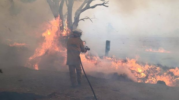 A bushfire watch and act warning has been issued for residents in the northern part of East Cannington