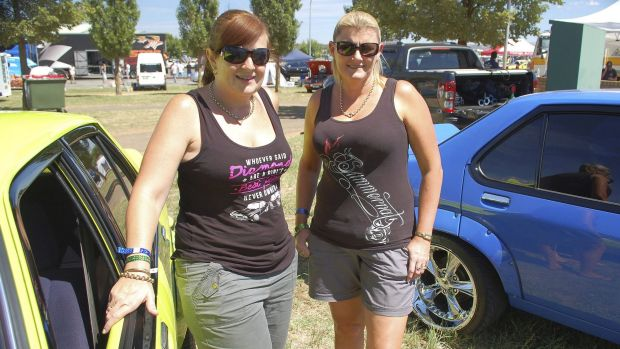Team Torana: Leanne Ludgate and Kathleen Whittaker from Campbelltown have been coming to Summernats for years.