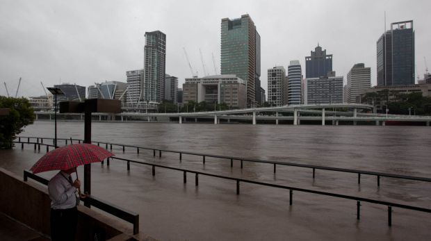 Brisbane River bursts its banks in 2011.