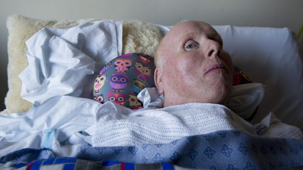 John Peers of Monash in bed at the Canberra Hospital.