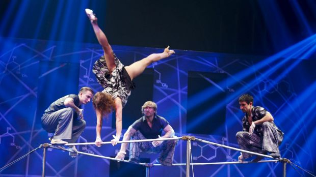 Many performers were former starts of Cirque du Soleil.
