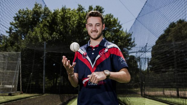 Eastlake's English import Joe Ashmore is enjoying his first season in the ACT Premier Cricket competition.