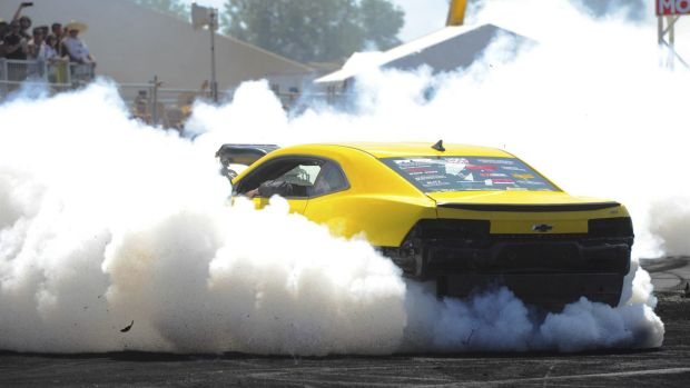 Summernats day two. Wannabe burnout masters raised hell at the eliminations on Friday. This Chevy put on a fine show.