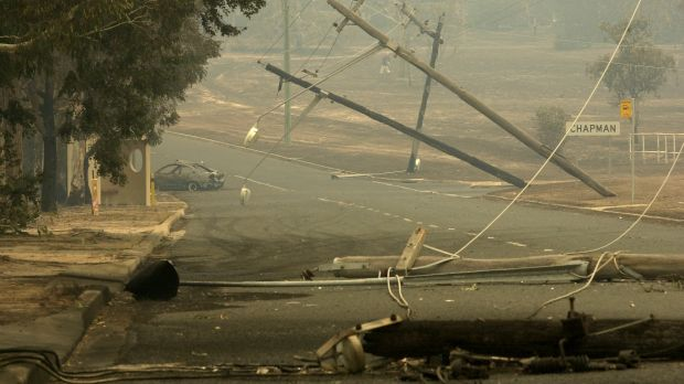 The aftermath of the 2003 bushfires in Darwinia Terrace, Chapman. The block has been taken off the land release program.