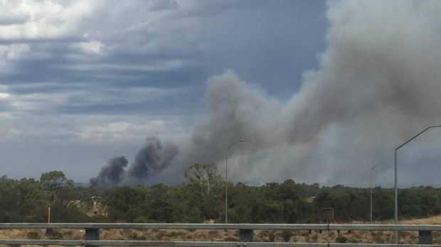 A bushfire watch and act alert has been issued for a fire started by lightning in Karnup.