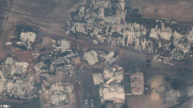 The bushfire left Yarloop in ruins.