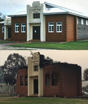 The Yarloop Hotel was destroyed by fire.