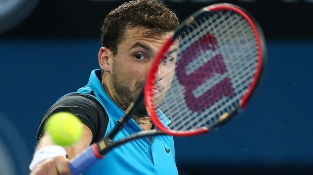 Dimitrov fought back to take the second set.
