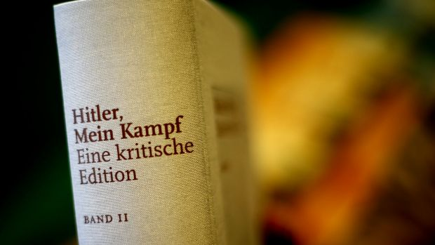 A copy of Hitler, Mein Kampf - A critical edition stands in a bookshop in Munich, Germany, on Friday.