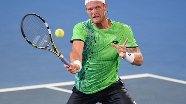 Limelighter: Sam Groth in action last week.