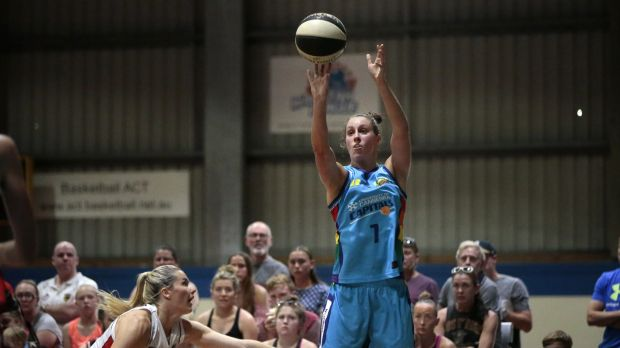Canberra Capitals player Stephanie Talbot returned to Canberra this week after a tour of Brazil with the Opals.
