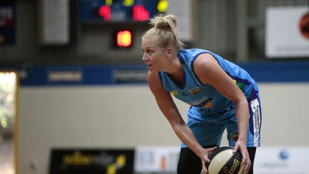 Canberra Capitals player Abby Bishop hopes to step up on the Australian Opals tour of Brazil this week.