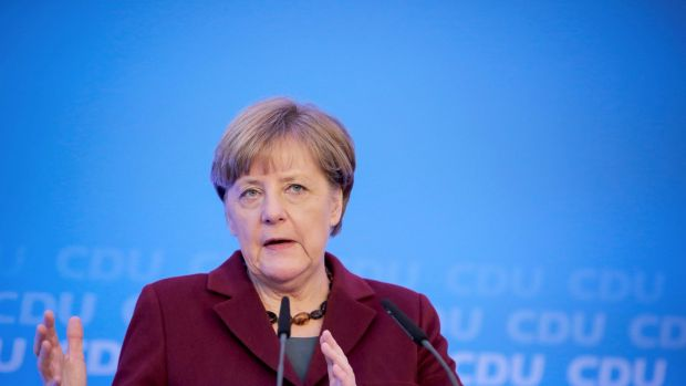 German chancellor Angela Merkel says refugees will return to their homeland, once the war is over.
