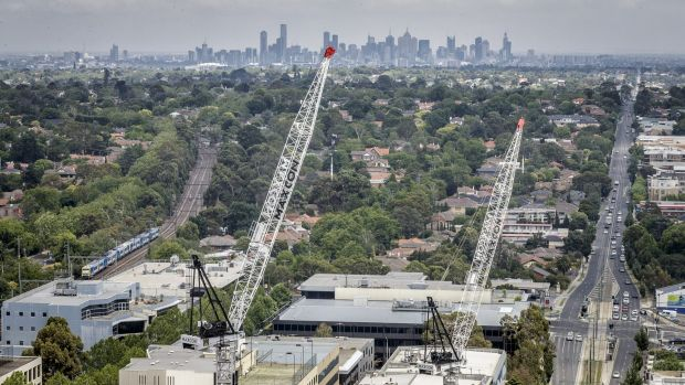 Box Hill is undergoing a development boom, with thousands of apartments approved or under construction.