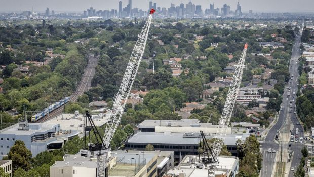 Whereas Box Hill is  undergoing a development boom, with thousands of apartments approved or under construction.