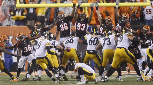 Game winner: Chris Boswell nails the game-winning field goal.