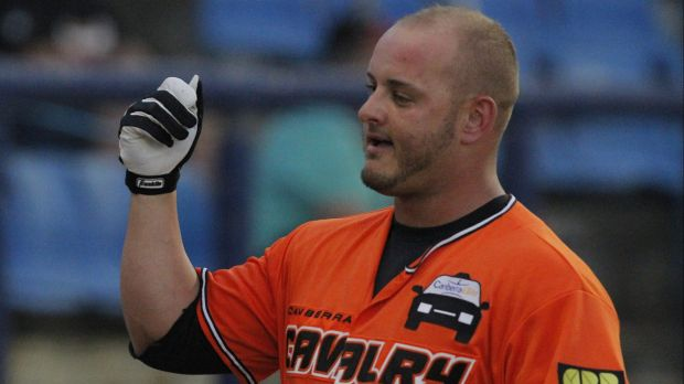 """Canberra Cavalry infielder Jason Sloan was a """"huge contributor"""" according to his manager Michael Collins."""