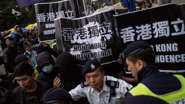 A rally in Hong Kong last month, where people are increasingly worried about mainland China's link to five missing ...