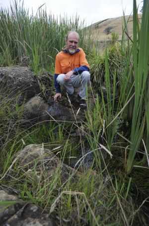 Conservationist, Phillip Fowler on his property near Blakney Creek, North East of Yass. He has helped re-vegetate Lang's ...