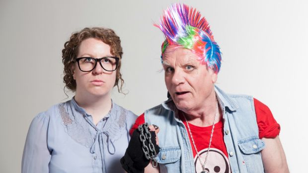 Bron Batten and her father, Jim, in The Dad Show.