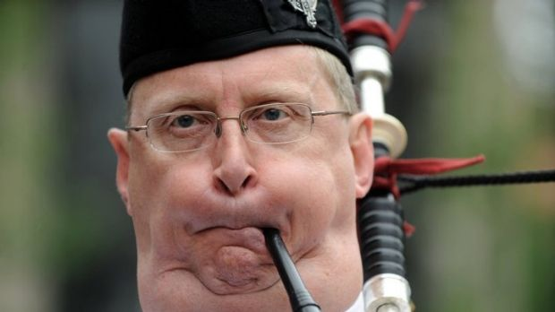 Typically inspiring Scottish piper.