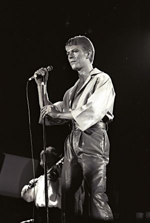 David Bowie during his 1978 Australian tour, pictured here in Sydney.
