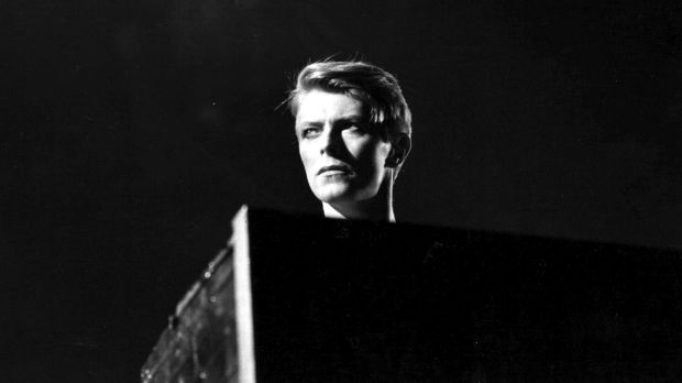 David Bowie in concert at Earl's Court, London during his 1978 world tour.