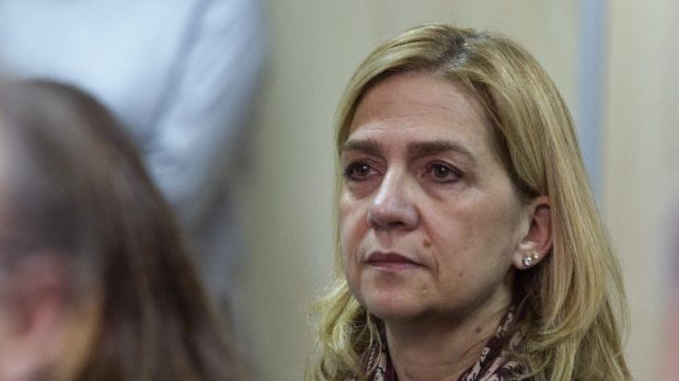 Spain's Princess Cristina listens to the proceedings during her corruption trial  in Palma de Mallorca.