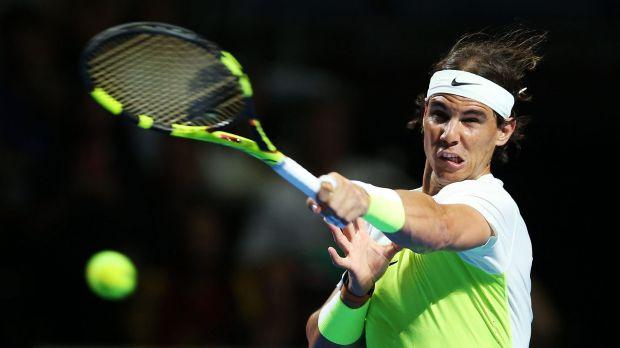 Drawcard: Sydney fans were treated to a rare Rafael Nadal sighting.
